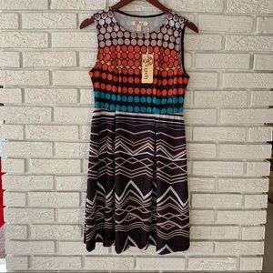 NWT Aryeh Sleeveless Dress Multi Color Size Small